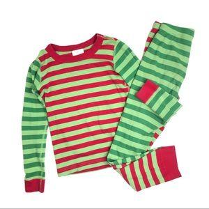 Hanna Andersson Holiday Stripe Pajama Set 130